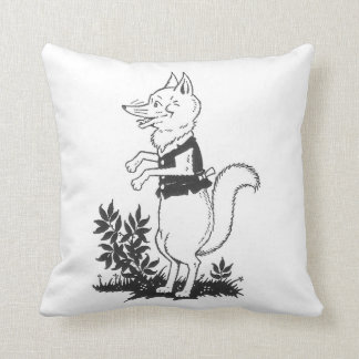 Fox del vintage almohadas
