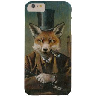 Fox del vintage en caso del iPhone 6 del sombrero Funda De iPhone 6 Plus Barely There