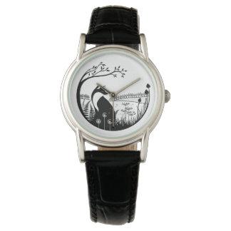 Fox Design Leather Ladies Watch
