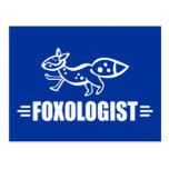 Fox divertido postal