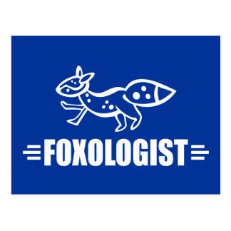 Fox divertido tarjetas postales
