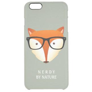 Fox divertido y lindo del inconformista Nerdy por Funda Clearly™ Deflector Para iPhone 6 Plus De Unc
