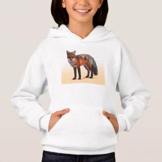 Fox double exposure - fox art - red fox - wildfox hoodie
