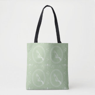Fox Dragonfly Grapevines White Sage Tote Bag
