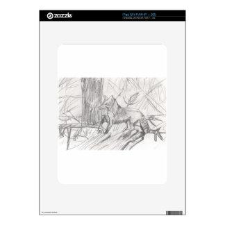 Fox drawing Eliana Decals For iPad