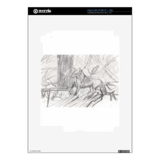 Fox drawing Eliana iPad 2 Skin