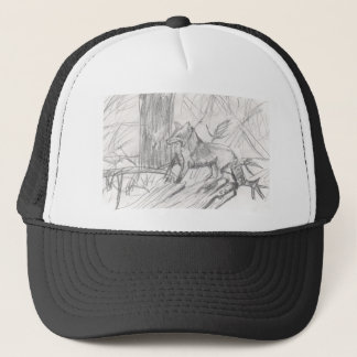 Fox drawing Eliana Trucker Hat