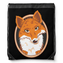 Fox Drawstring Backpack