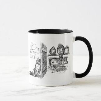 Fox Eavesdropping on Chickens Mug