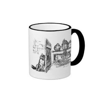 Fox Eavesdropping on Chickens Ringer Mug