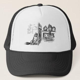 Fox Eavesdropping on Chickens Trucker Hat
