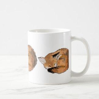 Fox el dormir taza de café