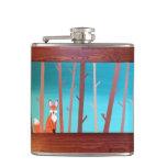 Fox en el frasco de maderas