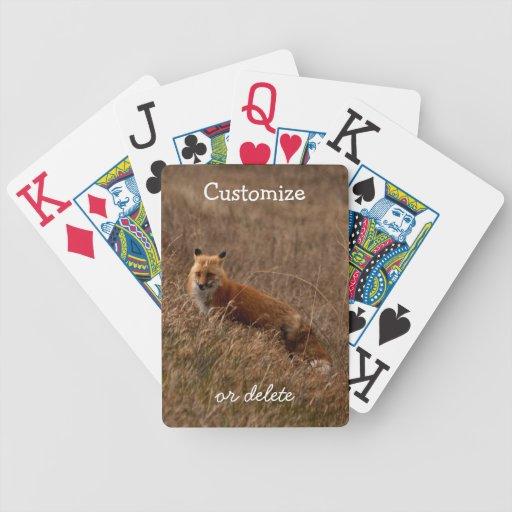 Fox en la hierba; Personalizable Baraja De Cartas