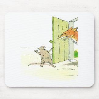 Fox en la puerta tapetes de ratones