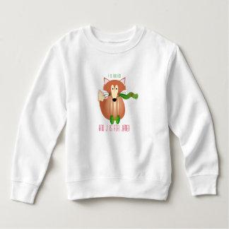 Fox en suéter de los niños de las manoplas