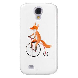 Fox en una bici funda para galaxy s4