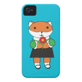 Fox en vestido carcasa para iPhone 4