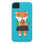 Fox en vestido Case-Mate iPhone 4 protector