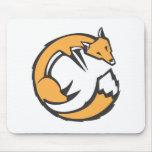 Fox encrespado alfombrillas de ratón