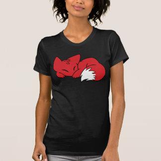 Fox encrespado el dormir camiseta