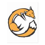 Fox encrespado postal