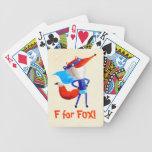 Fox estupendo baraja cartas de poker
