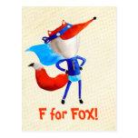 Fox estupendo tarjeta postal