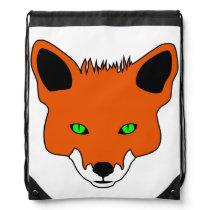 fox face drawstring bag