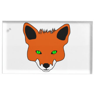fox face place card holder