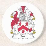 Fox Family Crest Beverage Coaster