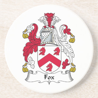 Fox Family Crest Drink Coasters