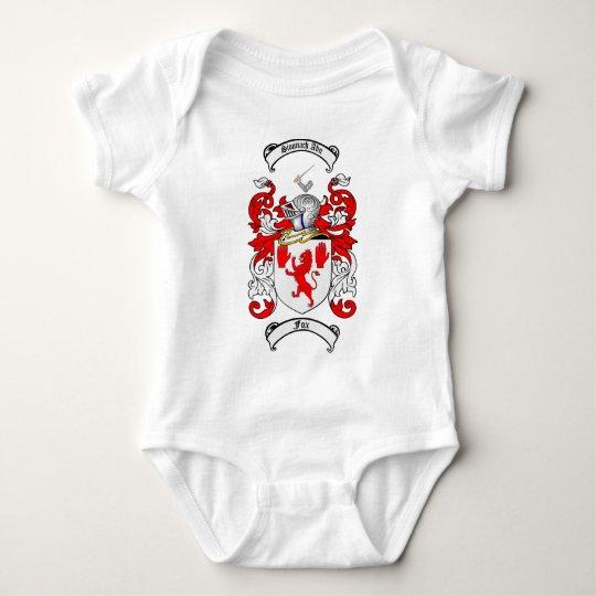 FOX FAMILY CREST -  FOX COAT OF ARMS BABY BODYSUIT