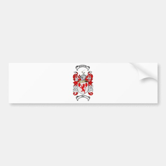 FOX FAMILY CREST -  FOX COAT OF ARMS BUMPER STICKER