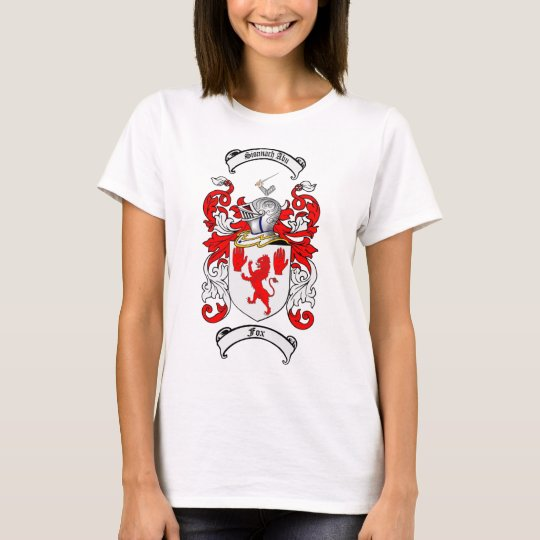 FOX FAMILY CREST -  FOX COAT OF ARMS T-Shirt