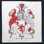 """Fox Family Crest Napkin<br><div class=""""desc"""">Fox Coat of Arms</div>"""