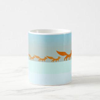 Fox Family in the Snow mug