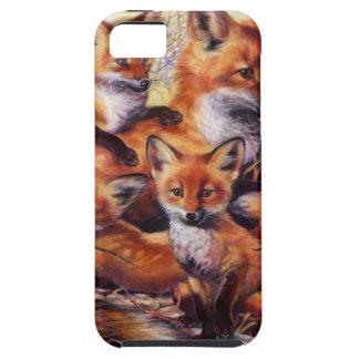 Fox Family Portrait iPhone SE/5/5s Case