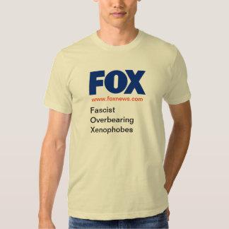 FOX - Fascist Overbearing Xenophobes, v2 Tshirts