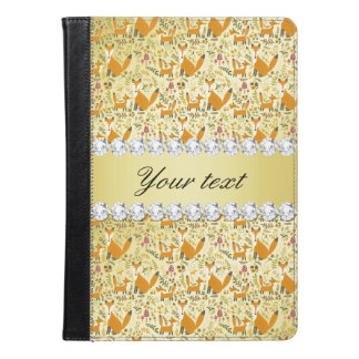 Fox Faux Gold Foil Bling Diamonds iPad Air Case