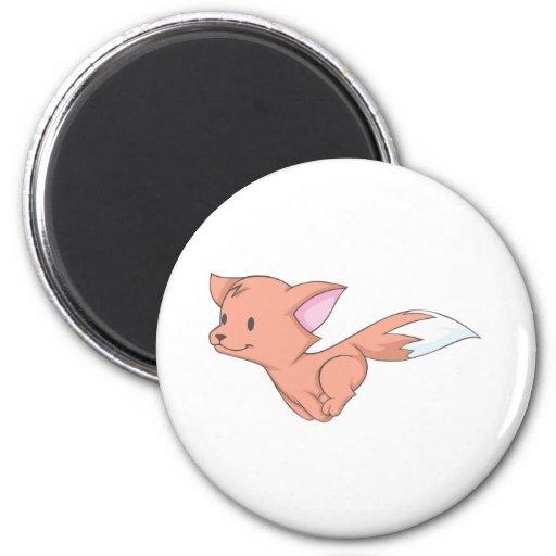 Fox feliz imán redondo 5 cm