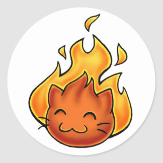 Fox Fire Classic Round Sticker