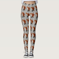 FOX & FLORAL ANTLER OWL LEGGINGS