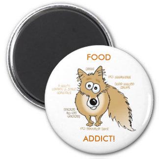 fox, FOOD ADDICT! Fridge Magnets