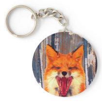 Fox forest Button Keychain