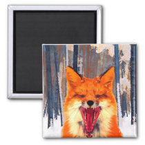 Fox forest Magnet