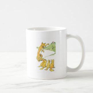 Fox & Four Kits Spy a House on a Hill Classic White Coffee Mug