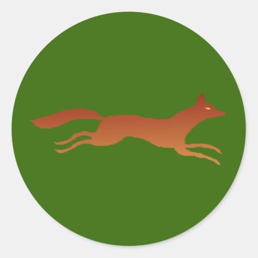 Fox fox round sticker