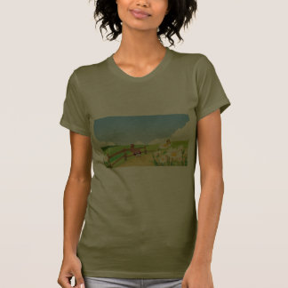 Fox Foxes Summer Blue Sky Nature Happy Flower Cute Tees