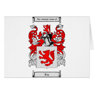 Fox (German) Coat of Arms Card
